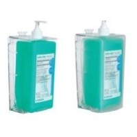 DISPENSADOR TRANSPARENTE CERRADO PARED 500 ML.