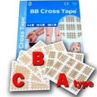 BB Cross Tape Tipo A (2,5x2 cm) 27 hojas x 9 sticks